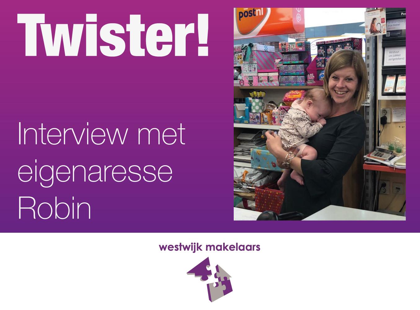 Interview met Robin van cadeau winkel Twister
