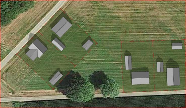 Ontwikkeling van 4 bouwkavels in het buitengebied