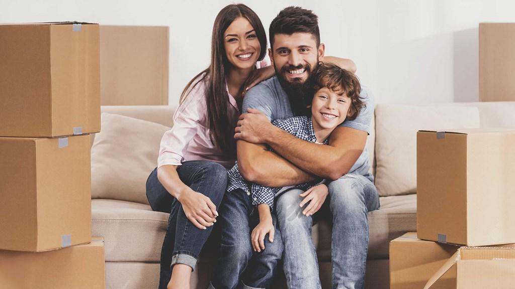 Umzug junge Familie