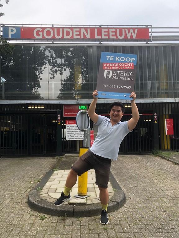 Parkeerplaats Gouden Leeuw aangekocht met behulp van Sterk! Makelaars