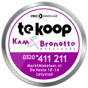 DIVA Makelaars start samenwerking met VBO Makelaar Kam & Bronotte Makelaars BV uit Lelystad.